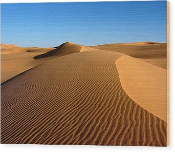 Ubari Sand Sea, Libyan Sahara Wood Print by Joe & Clair Carnegie / Libyan Soup