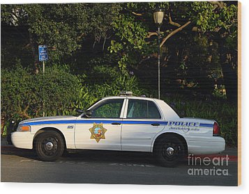 Uc Berkeley Campus Police Car  . 7d10178 Wood Print by Wingsdomain Art and Photography
