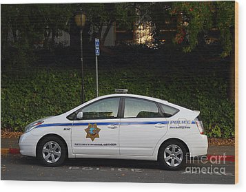 Uc Berkeley Campus Police Car  . 7d10181 Wood Print by Wingsdomain Art and Photography