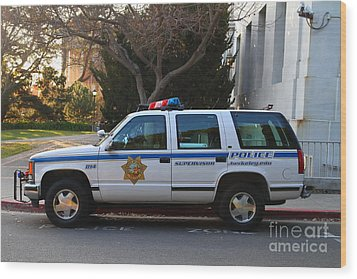 Uc Berkeley Campus Police Suv  . 7d10182 Wood Print by Wingsdomain Art and Photography