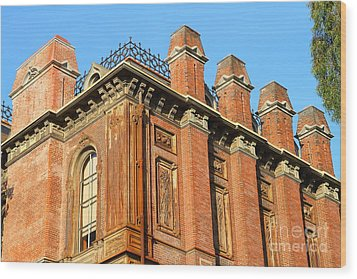 Uc Berkeley . South Hall . Oldest Building At Uc Berkeley . Built 1873 . 7d10114 Wood Print by Wingsdomain Art and Photography