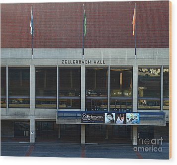 Uc Berkeley . Zellerbach Hall . 7d10013 Wood Print by Wingsdomain Art and Photography