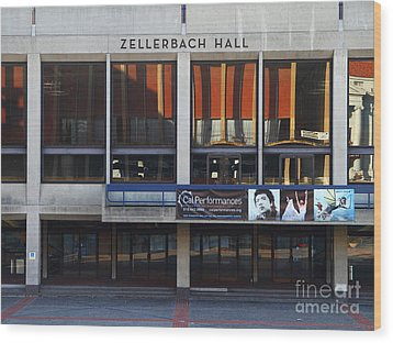 Uc Berkeley . Zellerbach Hall . 7d9989 Wood Print by Wingsdomain Art and Photography