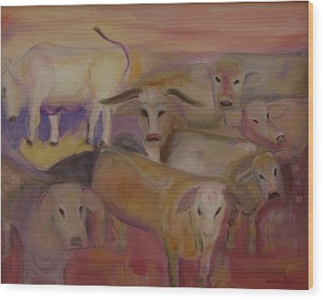 Udderly Different Wood Print by Susan Hanlon