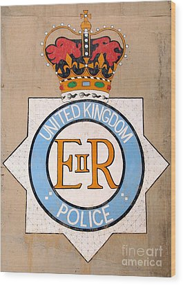 Uk Police Crest Wood Print by Unknown