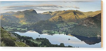 Ullswater From Place Fell Wood Print by Stewart Smith