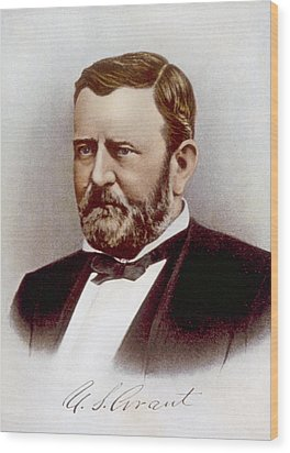 Ulysses S. Grant 1822-1885, U.s Wood Print by Everett