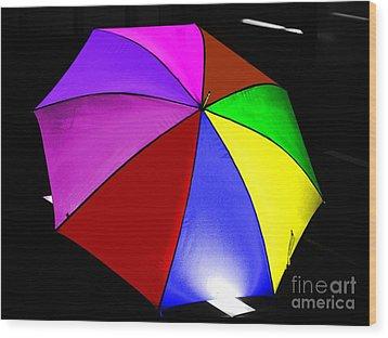 Wood Print featuring the photograph Umbrella by Blair Stuart