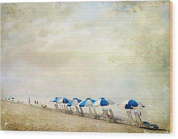Wood Print featuring the photograph Umbrellas by Karen Lynch