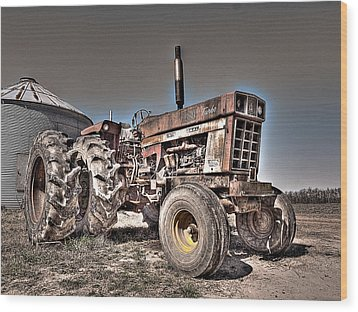 Uncle Carly's Tractor Wood Print