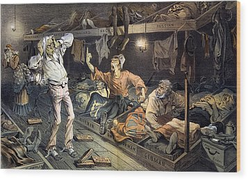 Uncle Sams Lodging-house. Print Shows Wood Print by Everett
