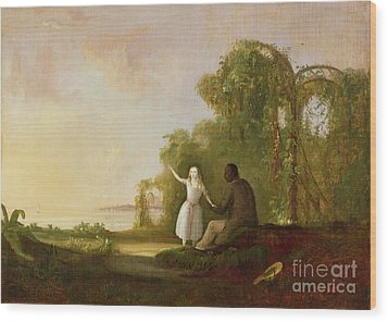 Uncle Tom And Little Eva Wood Print by Robert Scott Duncanson