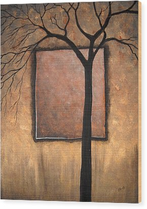 Uncompleted Shadows Wood Print by Edwin Alverio
