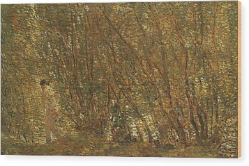 Under The Alders Wood Print by Childe Hassam