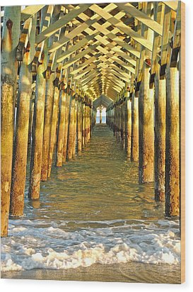 Under The Boardwalk Wood Print by Eve Spring