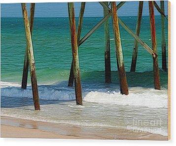 Under The Boardwalk Wood Print by Judi Bagwell