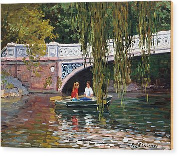 Under The Bow Bridge Central Park Wood Print by Roelof Rossouw