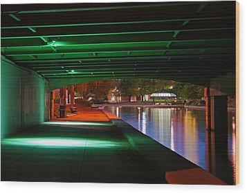 Under The Bridge Wood Print by Joann Vitali