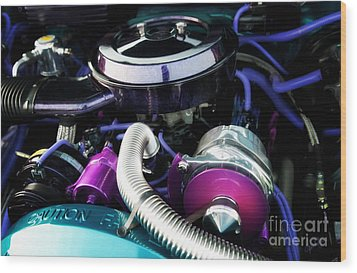 Under The Hood By House Of Kolor Wood Print by Anne Kitzman