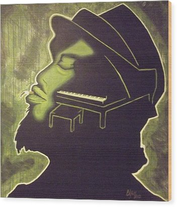 Under The Influence Wood Print by Clyde Stallworth Jr