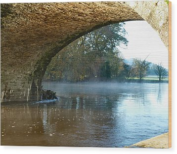 Under The Old Bridge Wood Print by Debra Collins