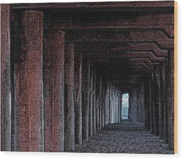 Under The Pier 2 Wood Print by Ernie Echols