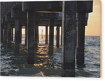 Under The Pier Wood Print by Bill Cannon