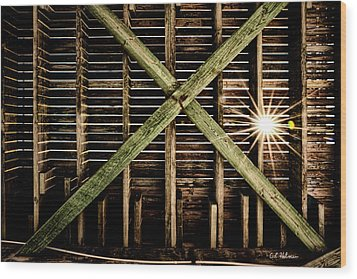 Under The Pier Wood Print by Christopher Holmes