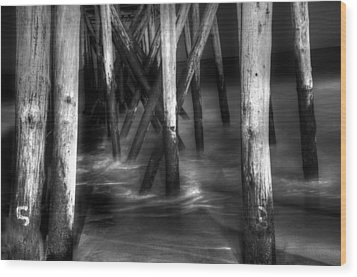 Under The Pier Wood Print by Paul Ward
