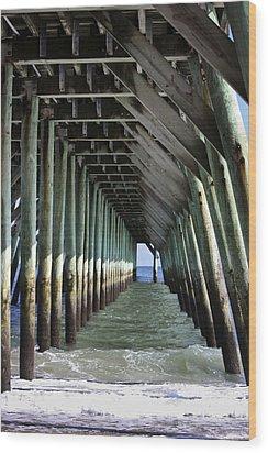 Under The Pier Wood Print by Teresa Mucha