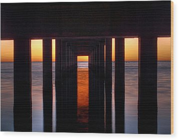 Underside Of The Pier Wood Print by Pixel Perfect by Michael Moore
