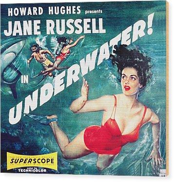 Underwater, Jane Russell, 1955 Wood Print by Everett