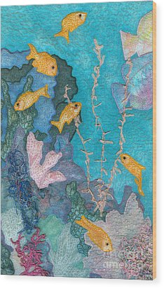 Underwater Splendor II Wood Print by Denise Hoag