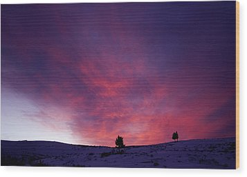 Wood Print featuring the photograph Undine Sunset by J L Woody Wooden