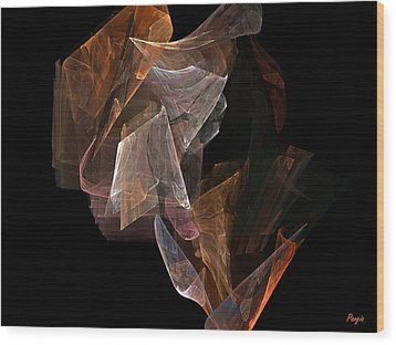 Wood Print featuring the digital art Unfolding by John Pangia