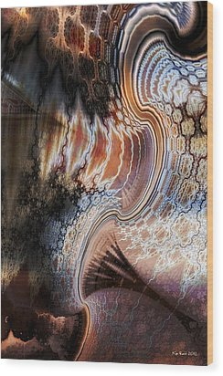 Wood Print featuring the digital art Unfolding by Kim Redd