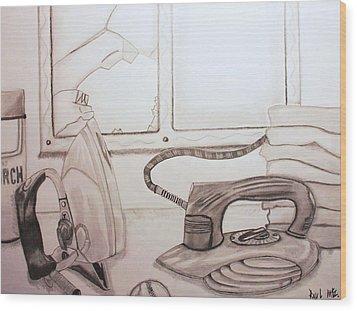 Unfortunate Accident Wood Print by Raul Martinez