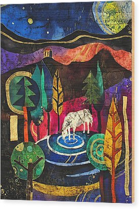 Unicorn Wood Print by Sandra Kern