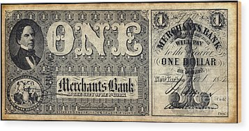 Union Banknote, 1862 Wood Print by Granger