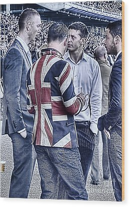 Wood Print featuring the photograph Union Jacks Ablaze At Ascot by Jack Torcello