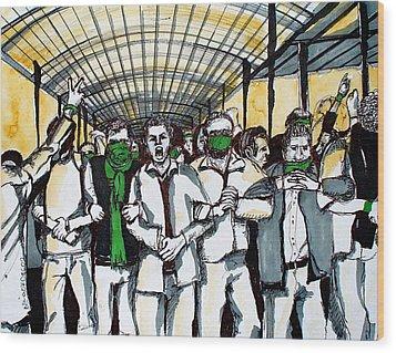 Union Wood Print by Nina Mirhabibi