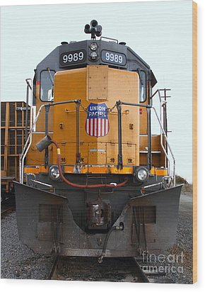 Union Pacific Locomotive Trains . 7d10589 Wood Print by Wingsdomain Art and Photography
