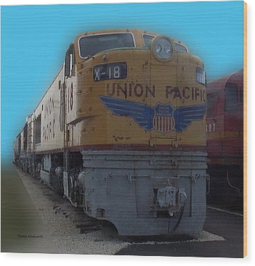 Union Pacific X 18 Train Wood Print by Thomas Woolworth