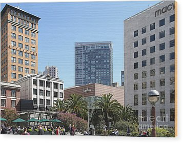Union Square San Francisco Wood Print by Wingsdomain Art and Photography