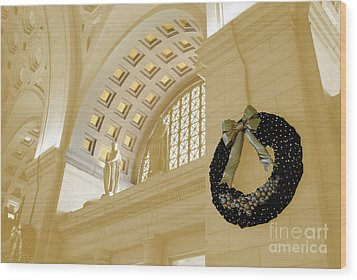 Union Station Holiday Wood Print by Jost Houk