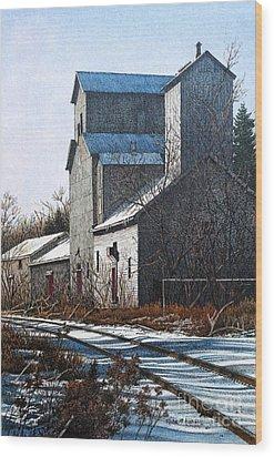 Unionville Railyard Wood Print