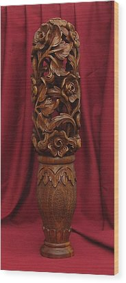 Unique Vase With Flowers Wood Print by Goran
