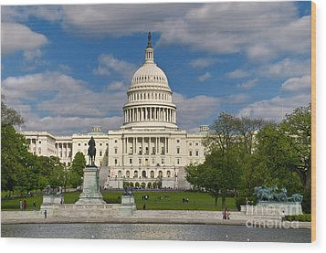 United States Capitol Wood Print by Jim Moore
