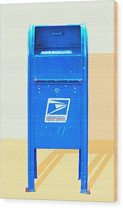 United States Postal Service Mail Box . Snail Mail Wood Print by Wingsdomain Art and Photography