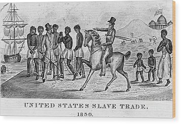 United States Slave Trade Wood Print by Photo Researchers